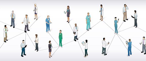 Quais são as principais redes profissionais na área da saúde?