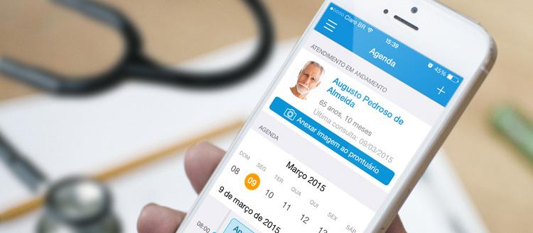 Aplicativo do iClinic: sua clínica está agora também em seu iPhone